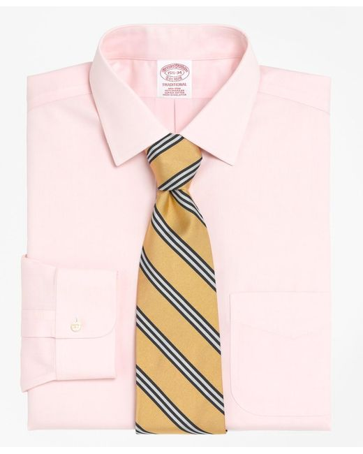 Brooks Brothers Blue Non-iron Regent Fit Spread Collar Dress Shirt for men