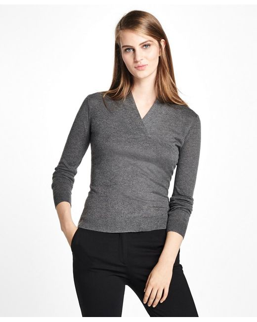 Brooks Brothers | Multicolor Silk-cashmere Shawl-collar Sweater | Lyst