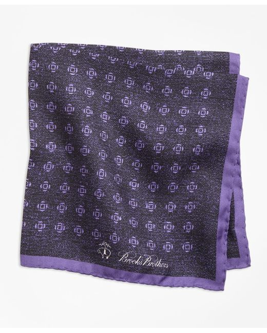 Brooks Brothers - Purple Geo Rose Pocket Square for Men - Lyst