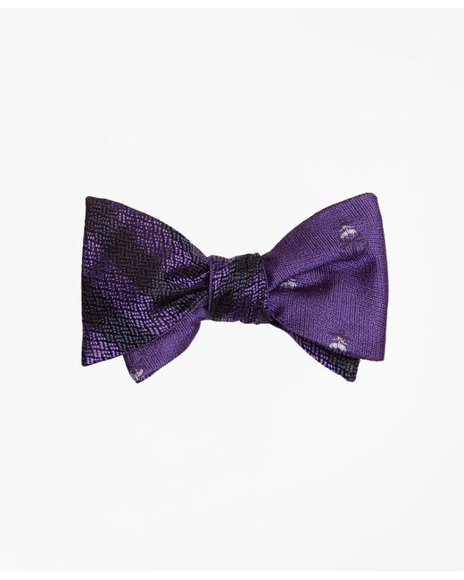 Brooks Brothers - Purple Textured Stripe With Golden Fleece® Reversible Bow Tie for Men - Lyst