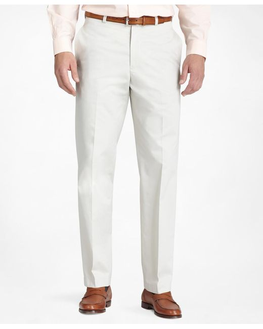 Brooks Brothers   White Hudson Fit Plain-front Lightweight Advantage Chinos® for Men   Lyst