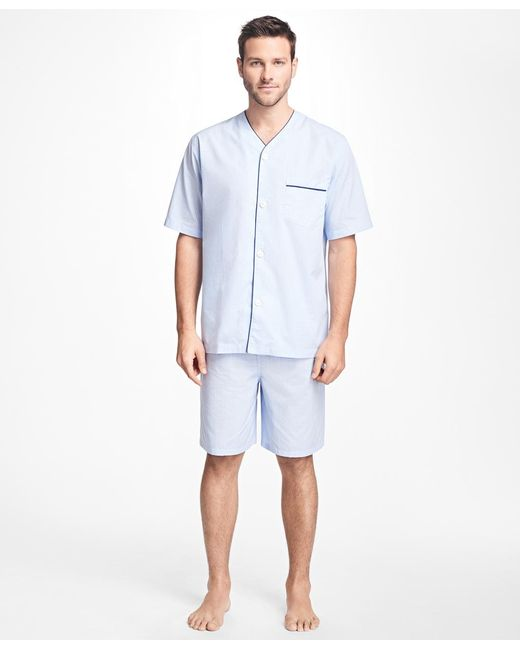 Brooks Brothers | Blue Glen Plaid Short Pajamas for Men | Lyst