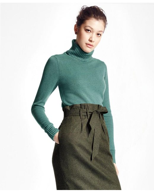 Brooks Brothers - Green Cashmere Turtleneck - Lyst