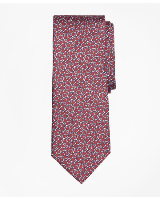 Brooks Brothers - Red Triple Link Print Tie for Men - Lyst