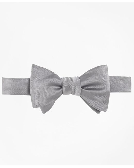 Brooks Brothers Gray Butterfly Bow Tie for men