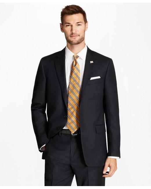 Brooks Brothers - Regent Fit Blue Herringbone 1818 Suit for Men - Lyst