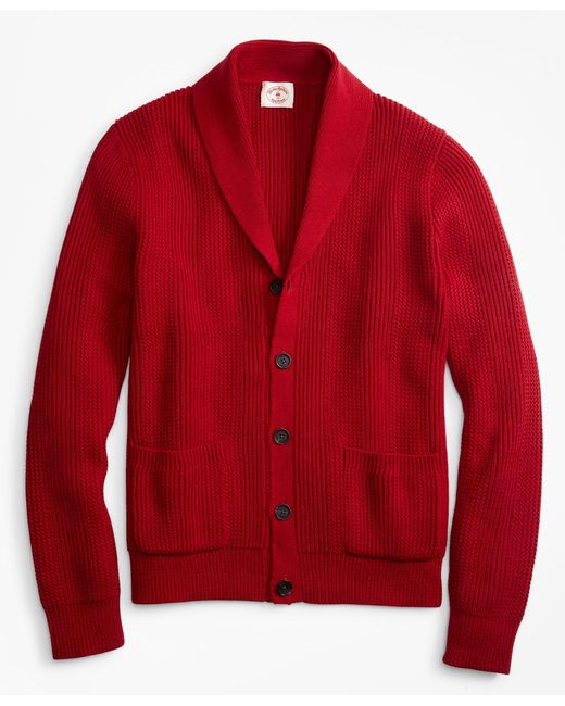 Brooks Brothers - Red Shawl-collar Button-front Cardigan for Men - Lyst