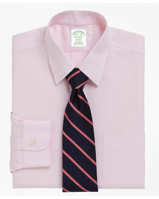 Brooks Brothers - Pink Non-iron Milano Fit Point Collar Dress Shirt for Men - Lyst