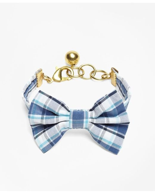 Brooks Brothers - Blue Kiel James Patrick Seersucker Plaid Bow Tie Bracelet - Lyst