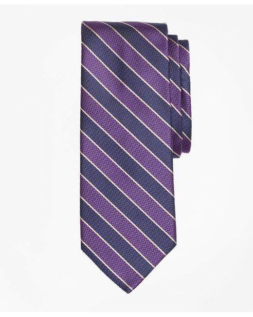 Brooks Brothers - Purple Herringbone Framed Stripe Tie for Men - Lyst