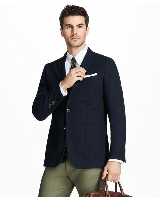 Brooks Brothers - Blue Milano Fit Two-button Textured Blazer for Men - Lyst