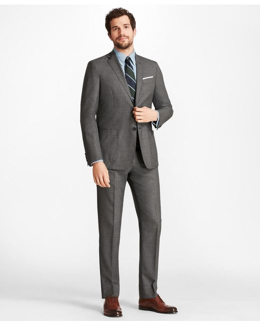 Brooks Brothers Gray Slim Fit Brookscloudtm Textured 1818 Suit for men