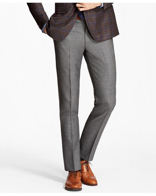 Brooks Brothers | Gray Milano Fit Wool Trousers for Men | Lyst