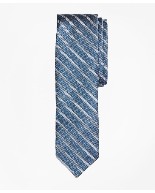 Brooks Brothers - Blue Heathered Stripe Silk Jacquard Tie for Men - Lyst