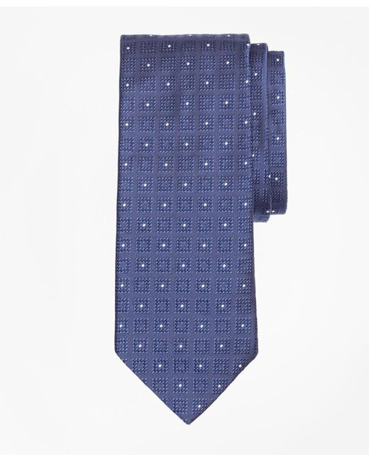 Brooks Brothers - Blue Square With Dot Tie for Men - Lyst