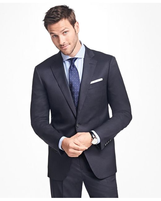 Brooks Brothers - Blue Regent Fit Stretch Wool Two-button 1818 Suit for Men - Lyst
