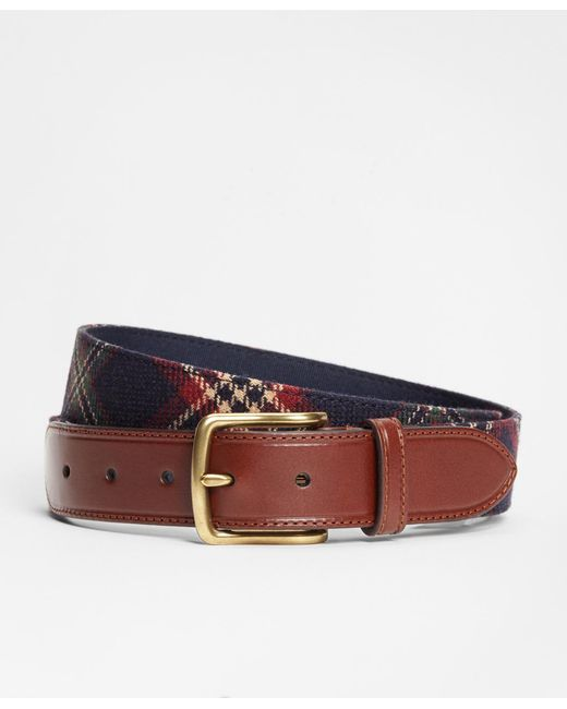 Brooks Brothers | Blue Signature Tartan Belt for Men | Lyst