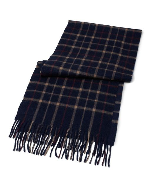Brooks Brothers - Blue Tattersall Camel Hair Scarf for Men - Lyst