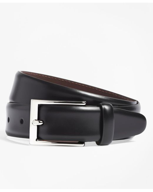 Brooks Brothers - Black Feather Edge Belt for Men - Lyst