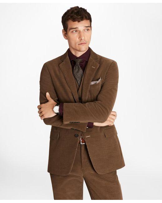 Brooks Brothers - Brown Regent Fit Fine Wale Stretch Corduroy Sport Coat for Men - Lyst