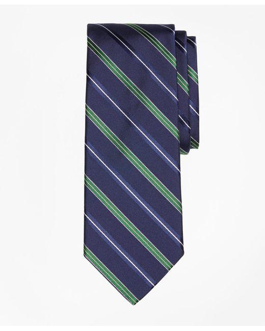 Brooks Brothers - Blue Alternating Split Double Stripe Tie for Men - Lyst