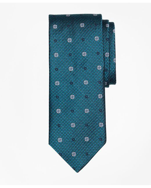 Brooks Brothers | Green Houndstooth Medallion Tie for Men | Lyst