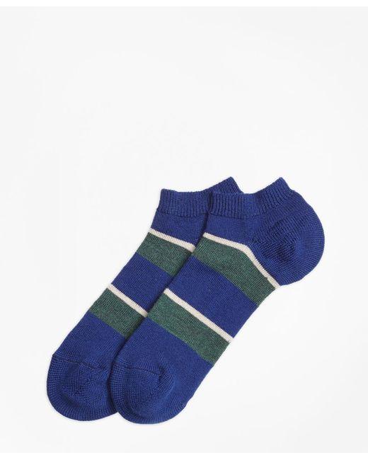 Brooks Brothers | Blue Wide Stripe Ankle Socks for Men | Lyst