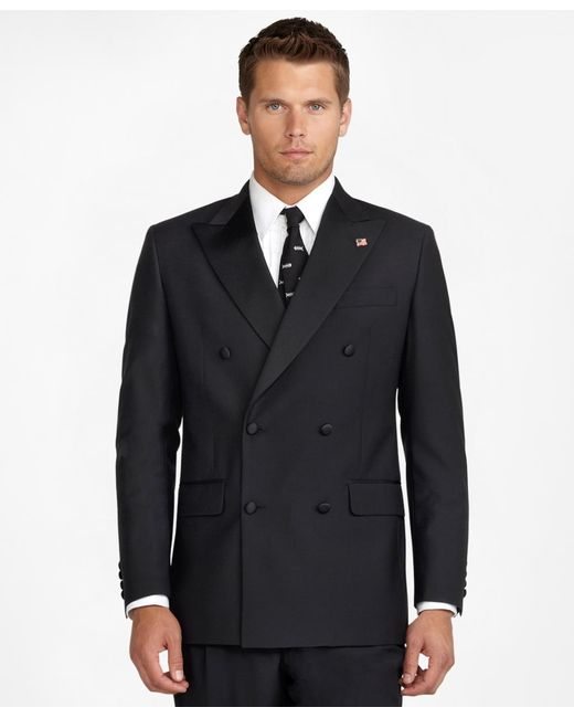 Brooks Brothers | Black Double-breasted Tuxedo Jacket for Men | Lyst