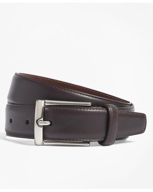 Brooks Brothers | Purple Calfskin Dress Belt for Men | Lyst