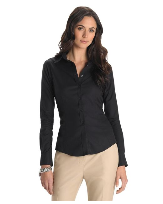 Brooks Brothers | Black Petite Non-iron Tailored-fit Dress Shirt | Lyst