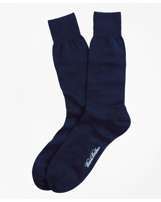 Brooks Brothers | Blue Merino Wool Jersey Crew Socks for Men | Lyst