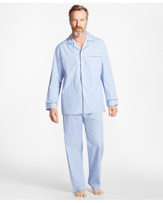 Brooks Brothers | Blue Bold Stripe Pajamas for Men | Lyst