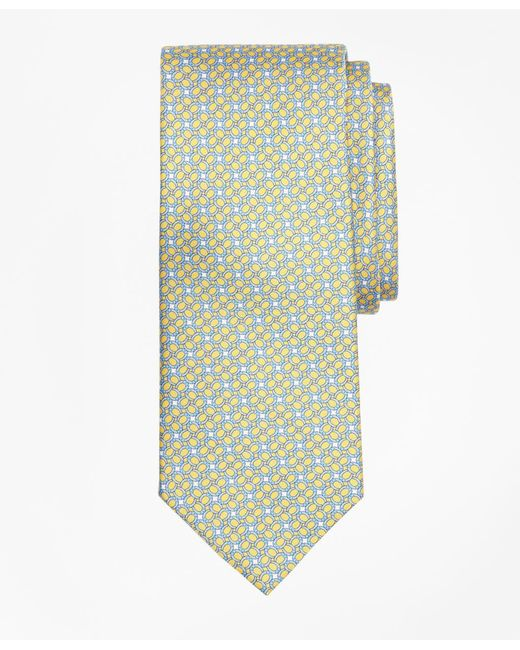 Brooks Brothers - Yellow Horseshoe Motif Print Tie for Men - Lyst
