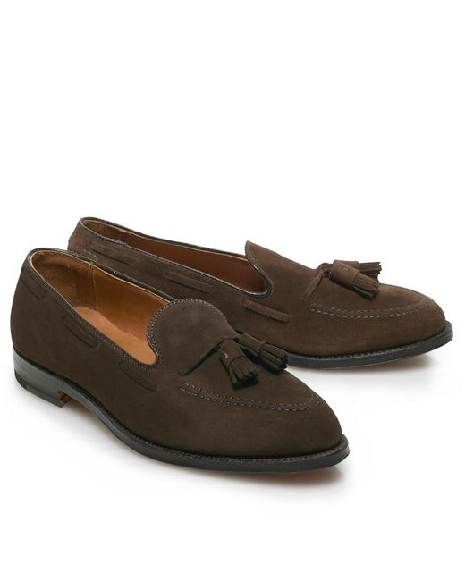 Brooks Brothers - Brown Suede Tassel for Men - Lyst