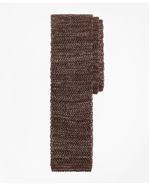 Brooks Brothers - Brown Melange Knit Tie for Men - Lyst