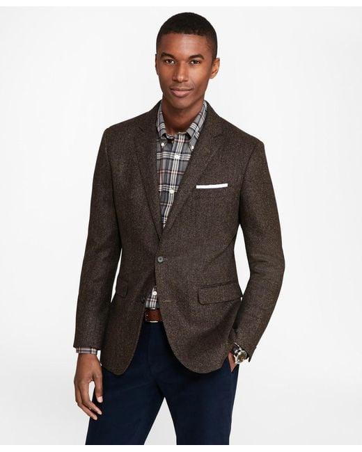Brooks Brothers Brown Extra Slim Fit Herringbone Sport Coat for men