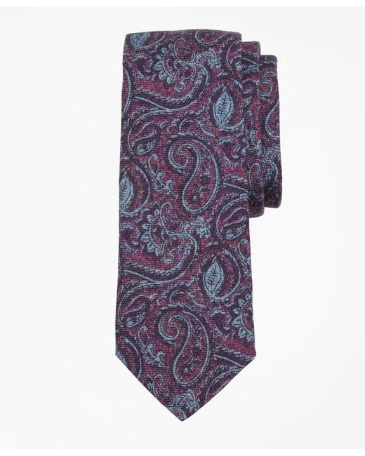 Brooks Brothers - Purple Paisley Print Tie for Men - Lyst