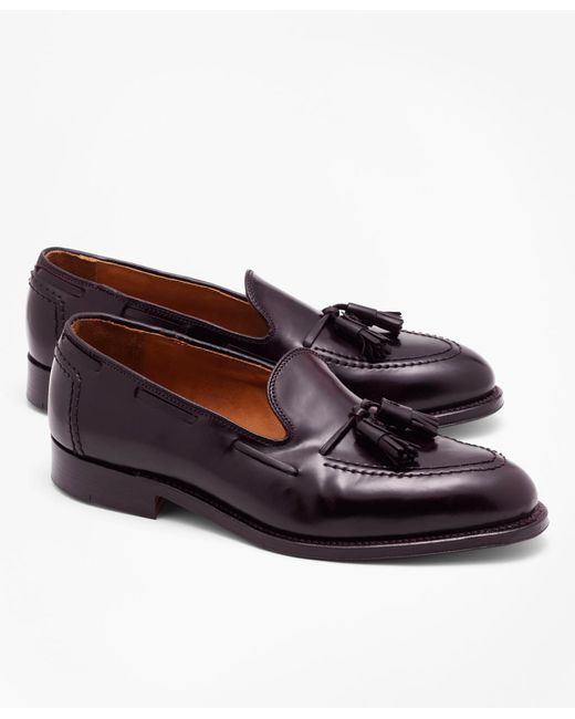 Brooks Brothers - Purple Cordovan Tassel Loafers for Men - Lyst