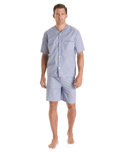 Brooks Brothers Blue Wrinkle-resistant Short Pajamas for men