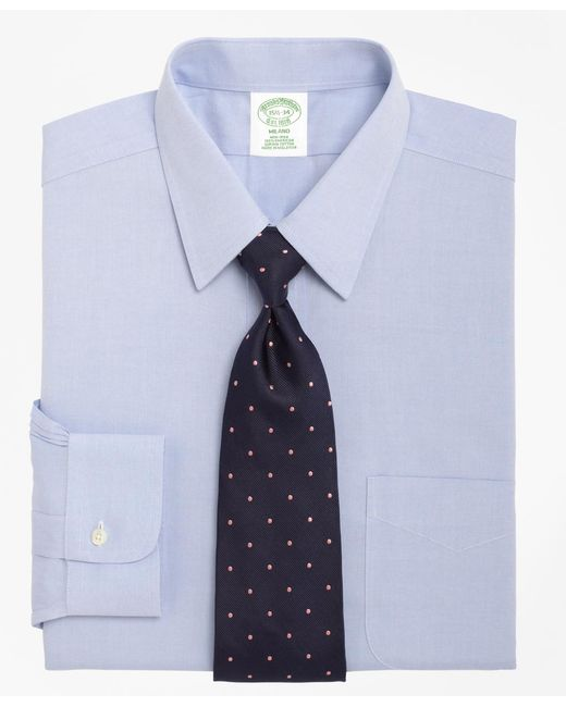 Brooks Brothers - Blue Non-iron Milano Fit Point Collar Dress Shirt for Men - Lyst