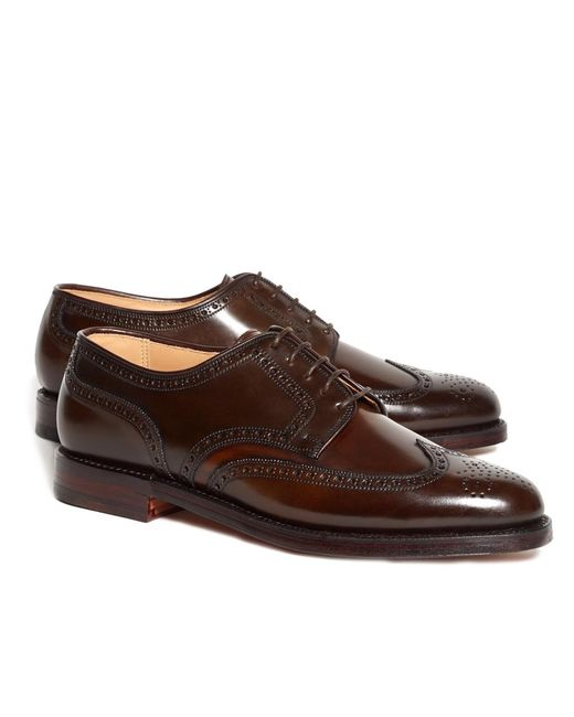 Brooks Brothers Brown Peal & Co. Cordovan Brogue for men