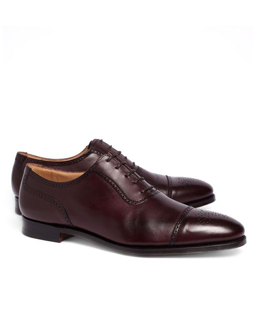Brooks Brothers - Purple Peal & Co.® Medallion Perforated Captoes for Men - Lyst