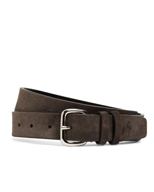 Brooks Brothers - Brown Harrys Of London® Suede Belt for Men - Lyst