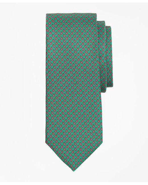Brooks Brothers - Green Micro-pine Print Tie for Men - Lyst
