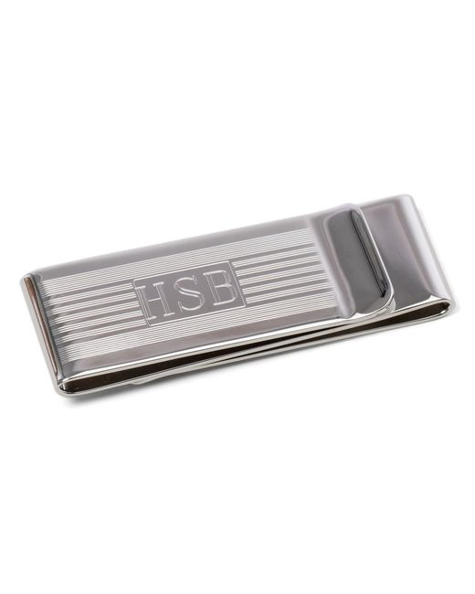 Brooks Brothers   Metallic Engine-turned Double Money Clip for Men   Lyst