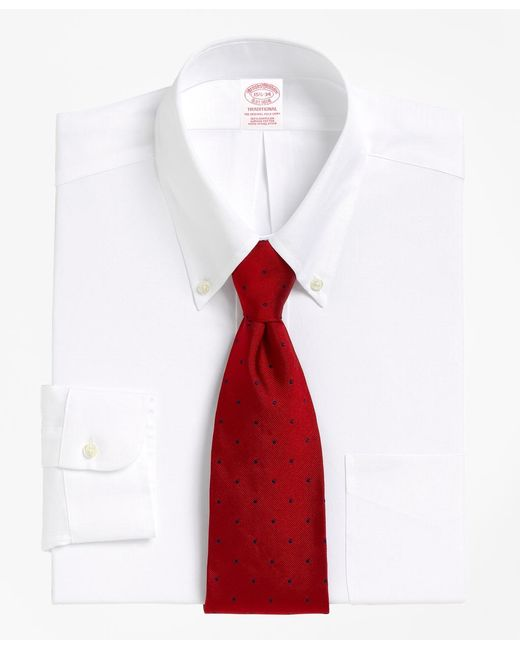 Brooks Brothers | White Madison Fit Button-down Collar Dress Shirt for Men | Lyst