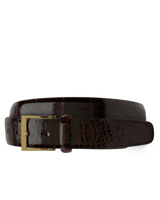 Brooks Brothers | Brown Alligator Belt for Men | Lyst