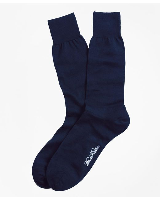 Brooks Brothers - Blue Merino Wool Jersey Crew Socks for Men - Lyst