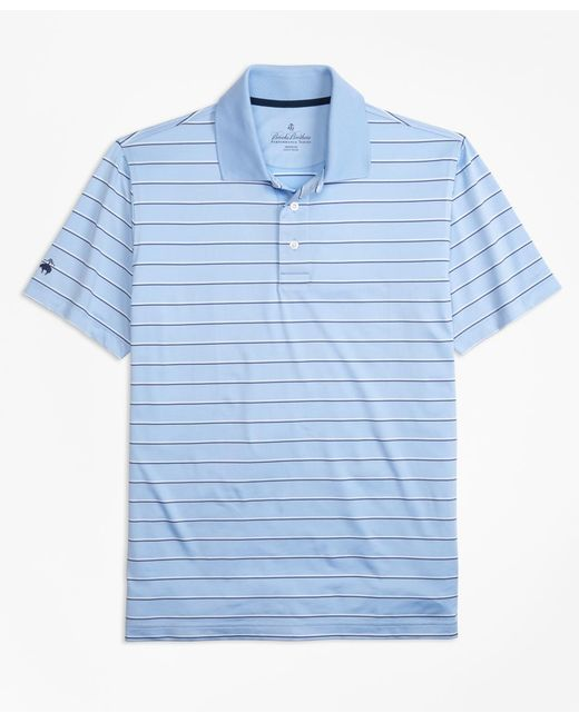 Brooks Brothers - Blue Performance Series Multi-stripe Polo Shirt for Men - Lyst