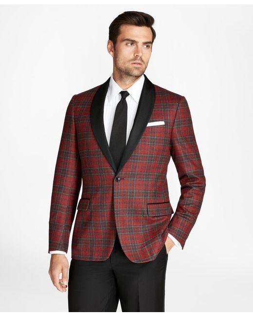 Brooks Brothers   Red Regent Fit Tartan Tuxedo Jacket for Men   Lyst
